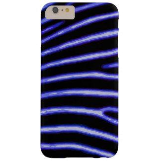 Caisse bleue au néon de zèbre coque barely there iPhone 6 plus