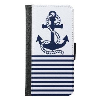 Caisse bleue/blanche nautique de portefeuille de