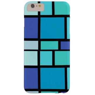 Caisse bleue de carrés coque iPhone 6 plus barely there