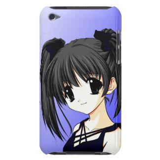 Caisse bleue de contact d'iPod de fille d'Anime Coques iPod Case-Mate