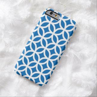 Caisse bleue de l'iPhone 6 d'éblouissement géométr
