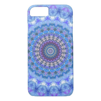 Caisse bleue de l'iPhone 7 de mandala Coque iPhone 7