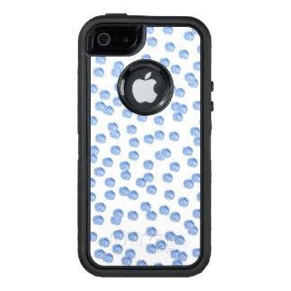 Caisse bleue de l'iPhone SE/5/5S d'Apple de pois Coque OtterBox iPhone 5, 5s Et SE