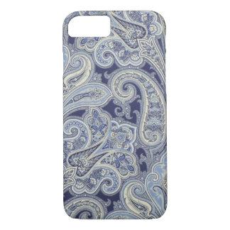 Caisse bleue de téléphone de Paisley Iphone 7 Coque iPhone 7