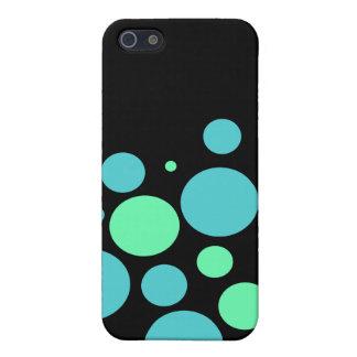 Caisse bleue et verte de l'iPhone 4 de bulles Coques iPhone 5