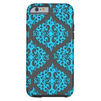 Caisse bleue fraîche de l'iPhone 6 de damassé Coque Tough iPhone 6