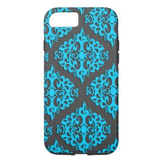 Caisse bleue fraîche de l'iPhone 7 de damassé Coque iPhone 7