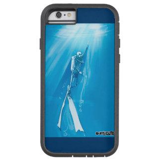 caisse bleue profonde de cool de plongeur coque tough xtreme iPhone 6
