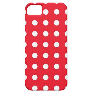 Caisse chic blanche rouge de l'iPhone 5/5S de poin Coque iPhone 5