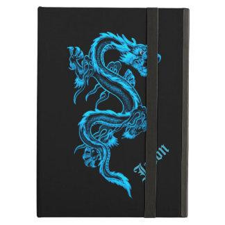 Caisse chinoise bleue d'air d'iPad de dragon