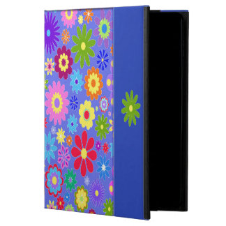 Caisse colorée d'air d'Ipad de fleurs