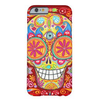 Caisse colorée de l'iPhone 6 de crâne de sucre par Coque iPhone 6 Barely There