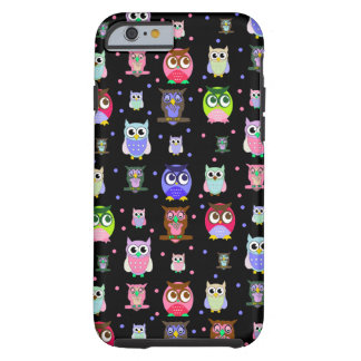 Caisse colorée de l'iPhone 6 de hibou de bande des Coque Tough iPhone 6