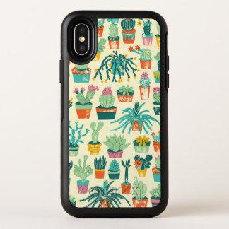 Caisse colorée de l'iPhone X d'Apple de motif de