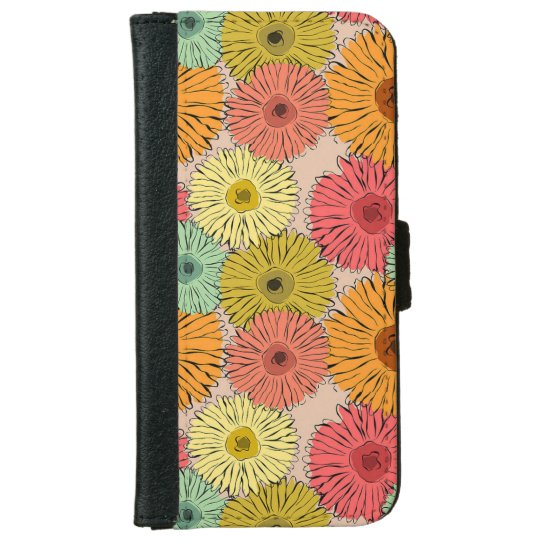 Caisse colorée de portefeuille d'Iphone 6/6s de