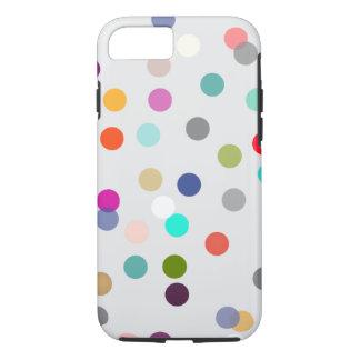 Caisse colorée de téléphone d'art de point de coque iPhone 7