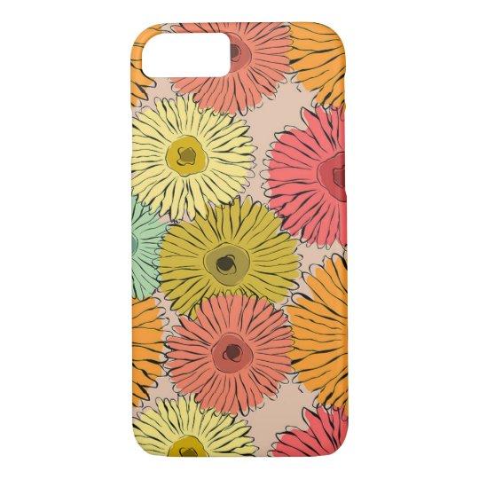 Caisse colorée de téléphone d'Iphone 7 de fleur Coque iPhone 8/7