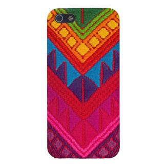 Caisse colorée ethnique maya d'Iphone 5 de textile Coques iPhone 5