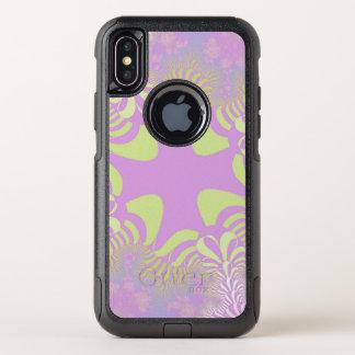 Caisse croisée en pastel rose de l'iPhone X