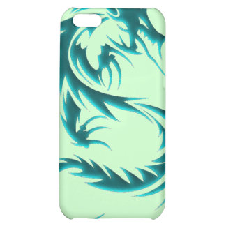 Caisse d iPod de dragon vert