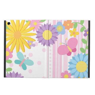 Caisse d'air d'iPad de fleurs