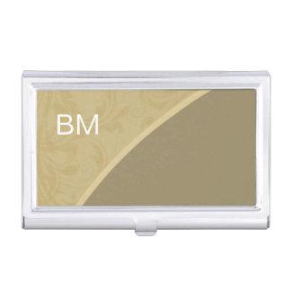 Caisse de carte de visite moderne de monogramme boîtier pour cartes de visite