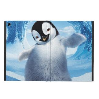 Caisse de chute de neige d'air d'iPad de pingouin