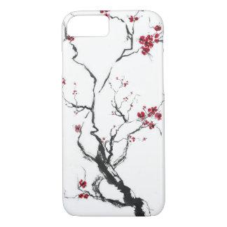 Caisse de fleurs de cerisier coque iPhone 8/7