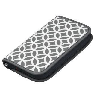 Caisse de folio de Smartphone - géométrique gris Agendas
