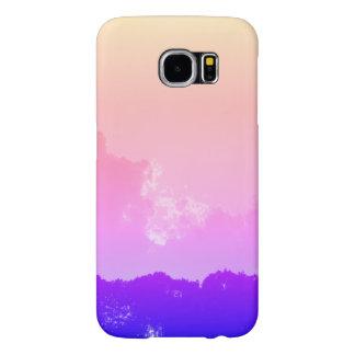 caisse de la galaxie S6 de Samsung de vue de matin