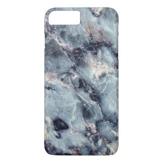 Caisse de marbre bleue coque iPhone 7 plus