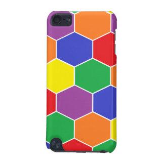 Caisse de point de contact d iPod d hexagones col