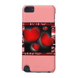 Caisse de point de contact d iPod de coeurs