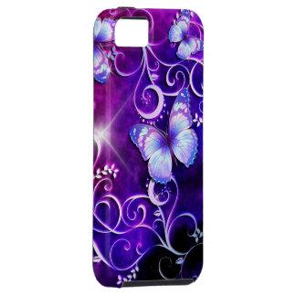 Caisse de point de l'art 3 de papillon coque tough iPhone 5