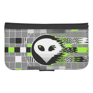 Caisse de portefeuille de la galaxie S4 de l'alien