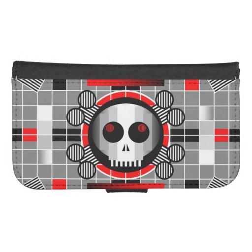 Caisse de portefeuille de la galaxie S4 du crâne T Coque Avec Portefeuille Pour Galaxy S4