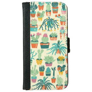 Caisse de portefeuille de l'iPhone 6 de motif de
