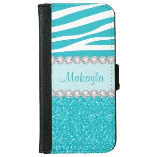 Caisse de portefeuille de l'iPhone 6 d'étincelles