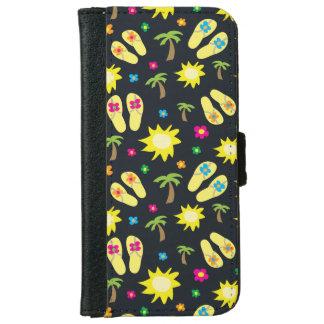 Caisse de portefeuille de téléphone de fleurs de