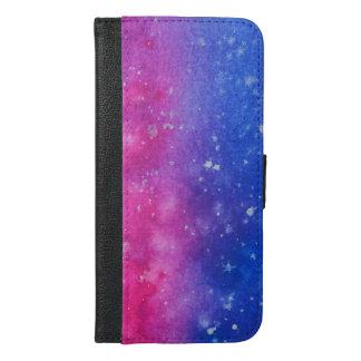 Caisse de portefeuille d'éclaboussure de galaxie