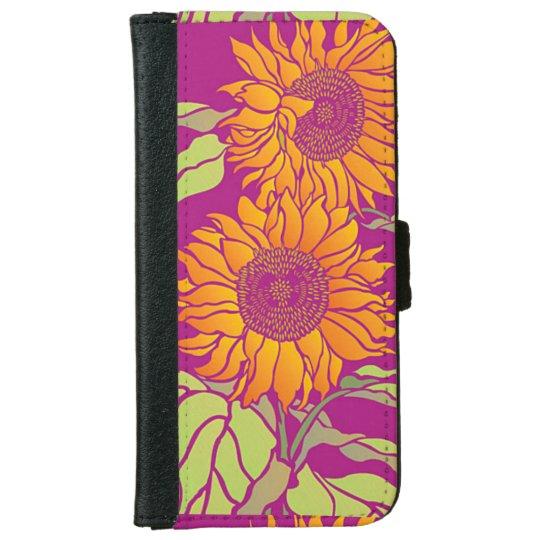 Caisse de portefeuille d'Iphone 6/6s de tournesol Coque Avec Portefeuille Pour iPhone 6