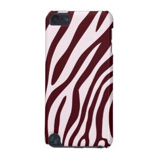 Caisse d'impression de zèbre, rouge coque iPod touch 5G
