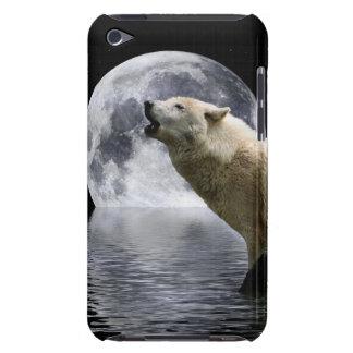 Caisse d'iPod d'animal sauvage de lune de loup d'h