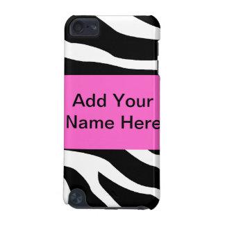 Caisse d'iPod de poster de animal de zèbre
