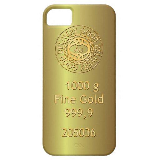 Caisse d'or de l'iPhone 5 de style de lingot d'or Étuis iPhone 5