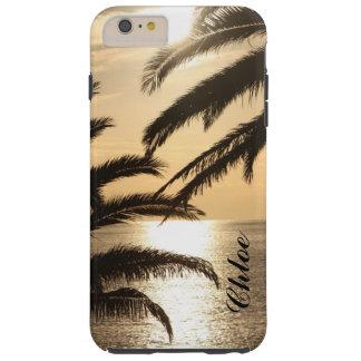 Caisse d'or de téléphone de coucher du soleil coque tough iPhone 6 plus