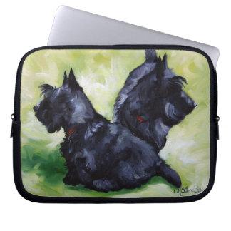 Caisse d'ordinateur portable de chien de Terrier d Housse Pour Ordinateur Portable