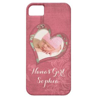 Caisse douce de photo de coeur de papillon de bébé coque iPhone 5