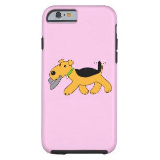 Caisse du casquette iPhone6/6s du chien W Coque Tough iPhone 6