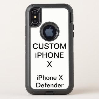 Caisse dure de l'iPhone X d'Otterbox personnalisée